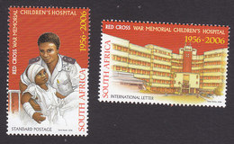 South Africa, Scott #1360-1361, Mint Hinged, Red Cross, Issued 2006 - South Africa (1961-...)