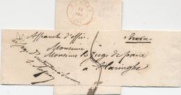 161/25 - Bande D' IMPRIME Croisée FURNES 1849 Vers HARINGHE En Service - Signée Le Juge D' Instruction - 1830-1849 (Belgique Indépendante)
