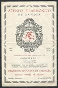 España_Gandia_Ateneo Filarmonico De Gandia. Concierto I - Programas