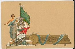 CARTOLINA POSTALE PRIMI 900 NON VIAGGIATA 51 CACCIATORI DELL'ALPI (CM264 - Regiments