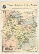 CARTOLINA POSTALE VIAGGIATA 1936 6 REGG ARTIGLIERIA  (CM268 - Reggimenti