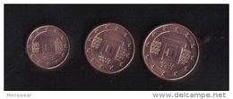 MALTA - 5 - 2 - 1 - EURO CENT FROM MALTA  - 2013 - UNC - Malta
