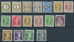 Switzerland Good Collection Of 17 Stamps - 1882-1906 Wappen, Stehende Helvetia & UPU