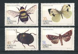 1984 - AZZORRE - INSETTI / INSECTS - LINGUELLATI / MLH. - Emissioni Locali