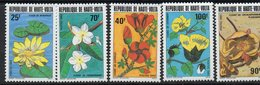 1983 Upper Volta Haute Volta Water Flowers Fleurs  Complete Set Of  5 MNH - Obervolta (1958-1984)