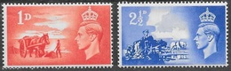 1948 - GRAN BRETAGNA / GREAT BRITAIN - TERZO ANN. LIBERAZIONE JERSEY E GUERNSEY / THIRD ANN. OF LIBERATION... MNH - 1902-1951 (Re)