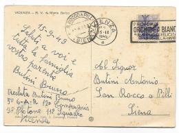 VICENZA - B.V. DI MONTE BERICO   VIAGGIATA FG - Vicenza