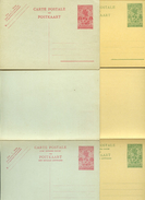 RUANDA URUNDI Complete Set Of 4 Postal Cards #9-12 Mint Vf 1932 - Ruanda-Urundi
