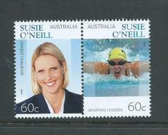 Australia 2012 Susie O'Neill Swimming Joined Pair MNH - 2010-... Elizabeth II