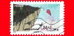 FRANCIA - Usato - 2011 - Giornata Del Francobollo - Proteggere La Terra - Earth - Su Carta Di Cotone - 20 G - France