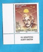 2004  3193  ALBERT EINSTEIN PHYSIKER NOBEL  JUGOSLAVIJA JUGOSLAWIEN SERBIA SRBIJA MONTENEGRO CRNA GORA USED
