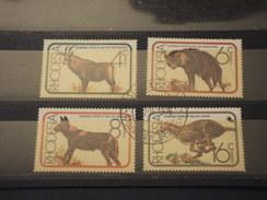 RHODESIA SUD - 1976 FAUNA 4 VALORI - TIMBRATI/USED - Southern Rhodesia (...-1964)