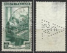 PERFIN - Italia Al Lavoro 10 Lire Filigrana Ruota Usato