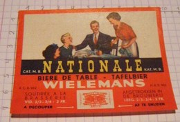 ETIQUETTE NATIONALE WIELEMANS BRUXELLES - Beer