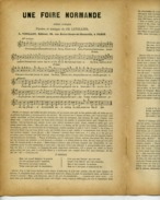 CAF CONC HUMOUR PARTITION FOLKLORE NORMANDIE PATOIS UNE FOIRE NORMANDE CHARLES LETELLIER XIXe - Folk Music