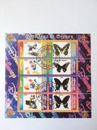 Scouting: Papillons Et Disney, Donald Duck, Butterflies, Vlinders, République Du Congo, Cinderella (o), Used - Padvinderij