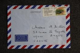 Enveloppe Envoyée Par Avion Du CANADA à TOULON - Luchtpost