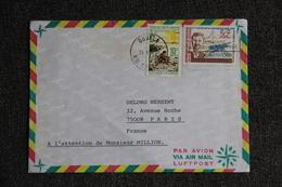 Enveloppe Envoyée Par Avion Du CAMEROUN à PARIS - Kameroen (1960-...)