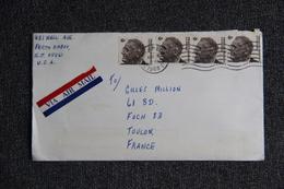 Enveloppe Envoyée De NEW YORK à TOULON - Poststempel