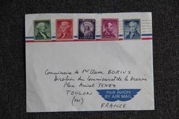 Enveloppe Envoyée Par Avion Des ETATS UNIS  à TOULON - Poststempel