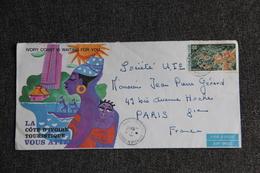 Enveloppe Envoyée Par Avion De COTE D'IVOIRE à PARIS - Côte D'Ivoire (1960-...)