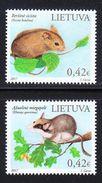 Lithuania,Lietuva ,Litauen.Lituanie  2017 Set Of MNH Northern Birch Mouse & Garden Dormouse - Lituanie