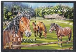 Lithuania,Lietuva ,Litauen.Lituanie  2016. Horses Of Lithuanian Breed Zemaitukai. MNH - Litauen