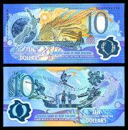 New Zealand, 10 $ Banknotes, Pick CS190b, With Folder, 1993 ! - Neuseeland