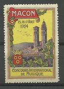 71 - SAONE ET LOIRE / MACON Concours International De Musique 1924 - Erinnophilie