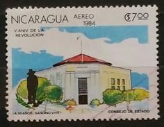 NICARAGUA 1984 Airmail - The 5th Anniversary Of Revolution. USADO - USED - Nicaragua