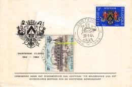 FDC OOSTENDE 1000 JARIG BESTAAN OOSTENDSE GEMEENSCHAP 1964 OSTENDE - FDC