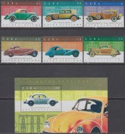2016.105 CUBA MNH 2016. AUTOS ANTIGUOS OLD CAR MERCEDES CHEVROLET FORD LINCOLN BUGATTI - Ongebruikt