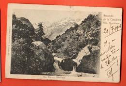 IBP-26 Recuerdo De La Cordillera Rep. Argentina, Rio Bianco, Mendoza. Pioneer. Used In 1903 To Roubaix France - Argentinien