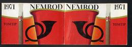 CALENDRIER DE POCHE 1971 - NEMROD - PETIT CIGARE -  FORMAT 7 X 22 Cm DÉPLIÉ - Voir Descriptif - Calendriers