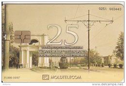 MOLDOVA - Strada Alexandru Cel Bun, Moldtelecom Telecard 25 Units, Tirage 35000, 10/07, Used
