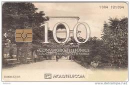 MOLDOVA - Aleia Principala, Moldtelecom Telecard 100 Units, Tirage 10000, 02/05, Used