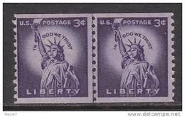 U.S. 1057X2  Line Pair  Small Holes  Low Gloss Gum   ** - Coils & Coil Singles