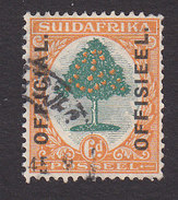 South Africa, Scott #O4b, Used, Orange Tree Overprinted, Issued 1926 - South Africa (...-1961)