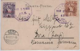 """Guatemala """"Palacio De La Reforma"""" Circulada En 1900 Siglo XIX !!!"""