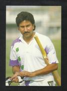Pakistani CRICKETER Saleem Malik Picture Postcard Cricket - Sportifs