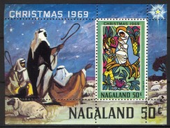 India Nagaland 1969 Label (local Issue), Christmas / Kerstmis / Weihnachten / Noël, Perfed, Cinderella **, MNH - Kerstmis