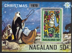 India Nagaland 1970 Label (local Issue), Christmas / Kerstmis / Weihnachten / Noël, Perfed, Cinderella **, MNH - Kerstmis