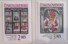Czechoslovakia   MH* 1987  # 2654/2655 - Unused Stamps
