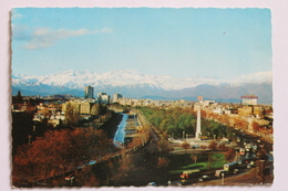 Panorama De La Ciudad Con La Cordillera Nevada, Santiago, Chile, 1971 - Chili