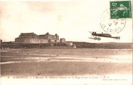 CPA 62 Wimereux - L'aviateur H. Gournay évoluant Sur La Plage En Face Du Casino 1912 Hôtel Müllier  Avion, Aviation - France