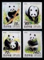 North Korea 2005 Mih. 4876/79 Fauna. Panda MNH ** - Korea, North