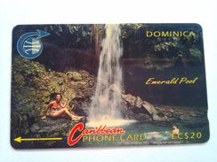 Dominica Phonecard 4CDMB EC$20 Emerald Pool - Dominica