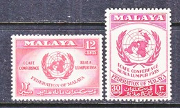 MALAYA  85-6   *   ECAFE  CONFERANCE - Malaya (British Military Administration)