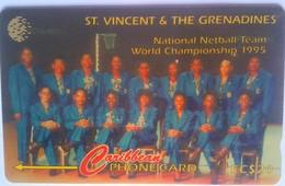 St Vincent Phonecard EC$20 Netball 243CSVB