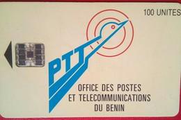 Benin Phonecard 100 Units Chip Logo - Benin